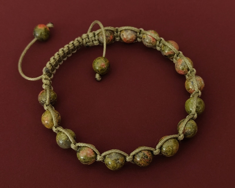 Ayder Collection Unakite Shamballa Bracelet